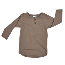 baby kids henley shirt tee t-shirt khaki beige sand tan brown dudes-n-dolls audrey and olive shop the woods sf