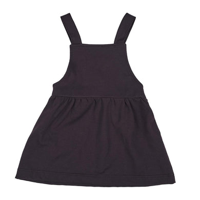 baby kids girls stretch pinafore overall dress suspender skirt aubergine purple dudes-n-dolls audrey and olive shop the woods sf