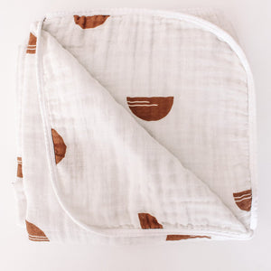 The Woods Brixton Phoenix muslin cotton baby quilt blanket swaddle sedona
