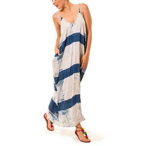 Shop the woods san francisco womens indigo dyed maxi dress audrey and olive maternity