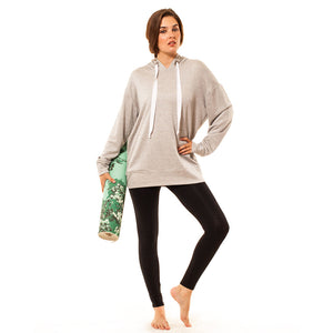 shop the woods Audrey and Olive 3+1 maternity clothes oversized streetwear hoodie sweatshirt light dark grey