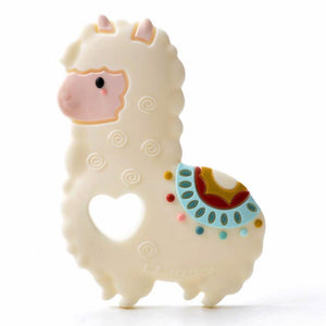 Loulou Lollipop silicone teether beige llama baby babies audrey and olive maternity clothes shop the woods san francisco