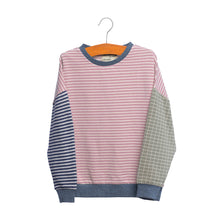 shop the woods kids girls baby wander and wonder striped color block sweatshirt sweat shirt pink mauve japan japanese audrey and olive