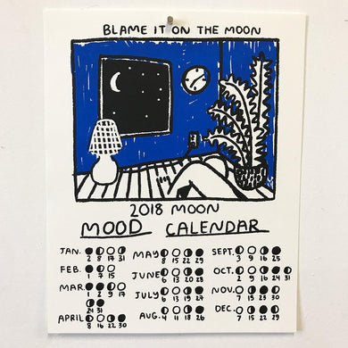 People I've Loved moon mood calendar print gift stationery audrey and olive maternity clothes shop the woods san francisco