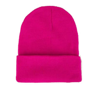 shop the woods butter bean basic beanie acrylic wool fold over magenta hot pink