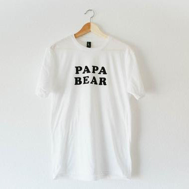 shop the woods bee and the fox papa bear mens dad father tee tshirt t-shirt baby kids girls boys clothes clothing