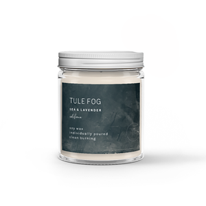 The Woods Tule Fog natural soy wax candles non-toxic sea lavender