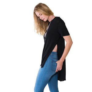 shop the woods Audrey and Olive 3+1 maternity clothes emi side split tee t-shirt