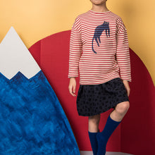 shop the woods kids girls boys baby wander and wonder cat red striped long sleeved tee audrey and olive
