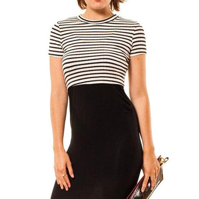 shop the woods Audrey Olive 3+1 maternity clothes striped short sleeve cropped t-shirt tee