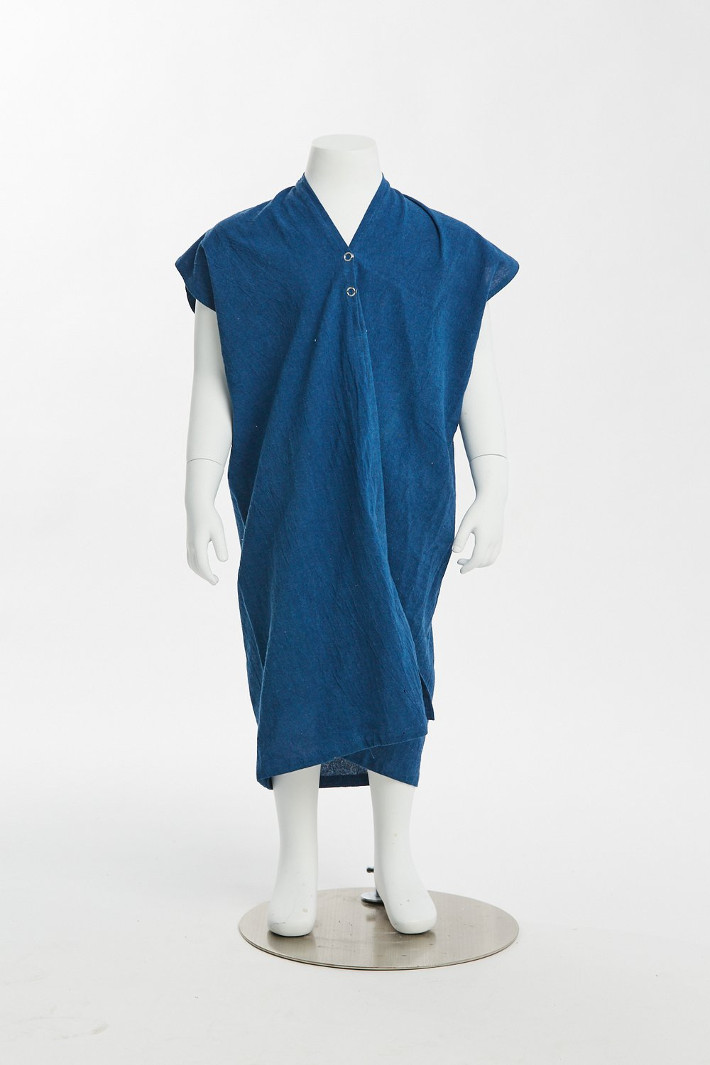 shop the woods miranda bennett everyday dress silk noil linen natural ethical fashion kids zero waste childrens girls baby toddler dark indigo blue
