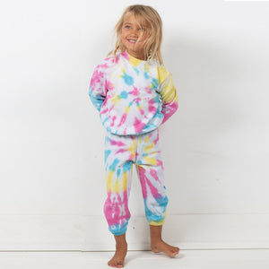 The Woods DIsco Panda Kids hand tie-dye sweatpants kids girls boys children