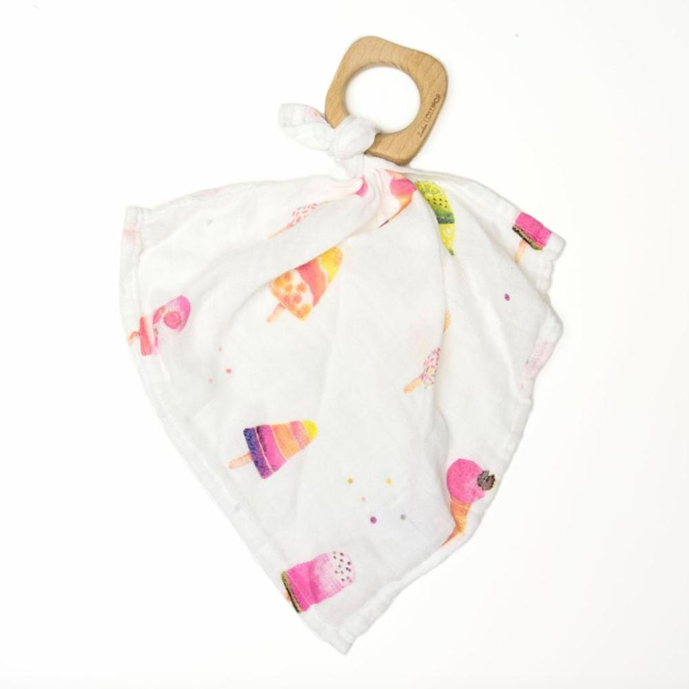 Loulou Lollipop wood ring bamboo lovey ice cream blanket baby babies audrey and olive maternity clothes shop the woods san francisco
