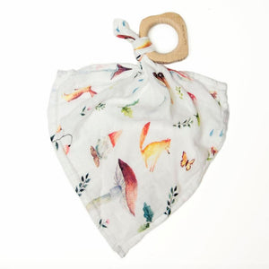 Loulou Lollipop wood ring bamboo lovey woodland blanket baby babies audrey and olive maternity clothes shop the woods san francisco