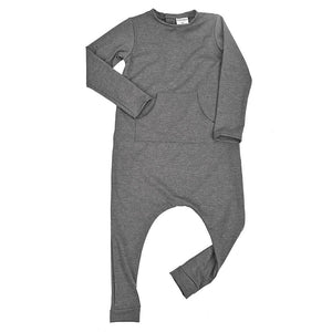 Baby kids stretch romper jumpsuit long sleeved onesie black and white diamond dudes-n-dolls audrey and olive shop the woods SF