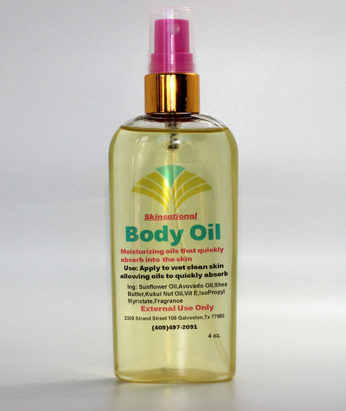 Custom body oil