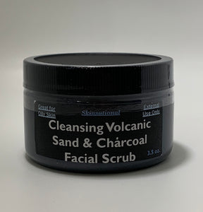 Cleansing Volcanic Sand & Charcoal Facial Scrub