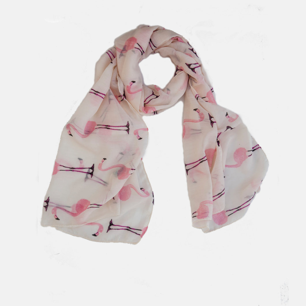 Pink Flamingos Summer Scarf