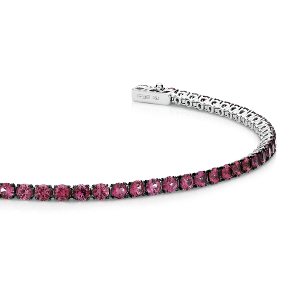 18ct white gold Ruby tennis bracelet 3.88ct