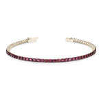 yellow gold Ruby tennis bracelet 3.88ct