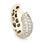 5-row pavé diamond Gemopoli earrings 18ct yellow gold