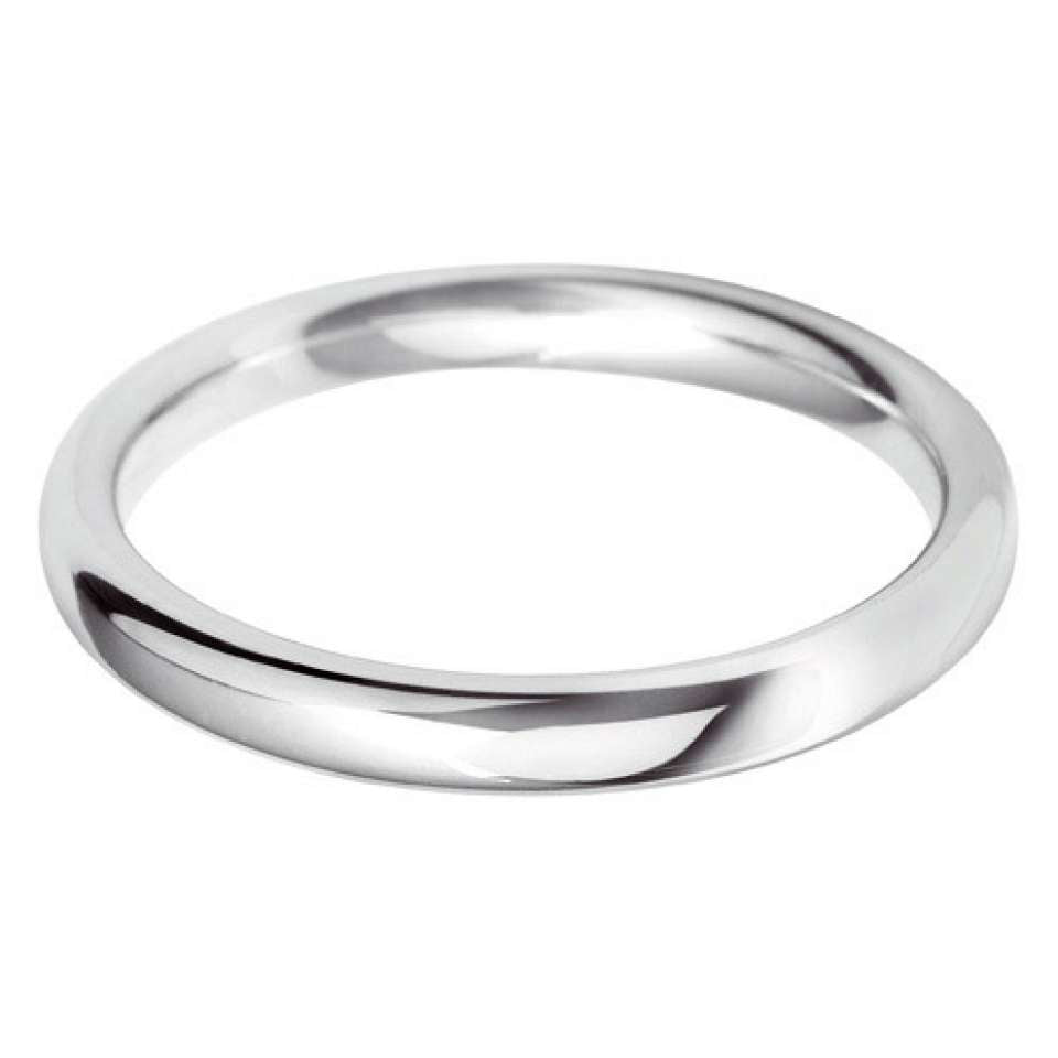 medium court 2.5mm wedding ring