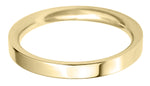 flat court 2.5mm wedding ring