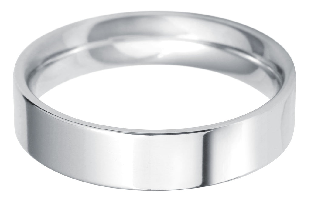 flat court 5.0mm wedding ring