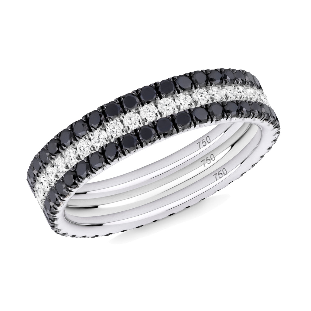 Back to Black eternity ring stack