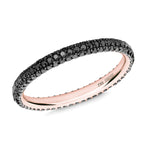 Gemopoli 3 row black diamond full eternity 18ct rose gold