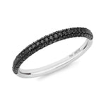 Gemopoli 3 row black diamond half eternity 18ct white gold