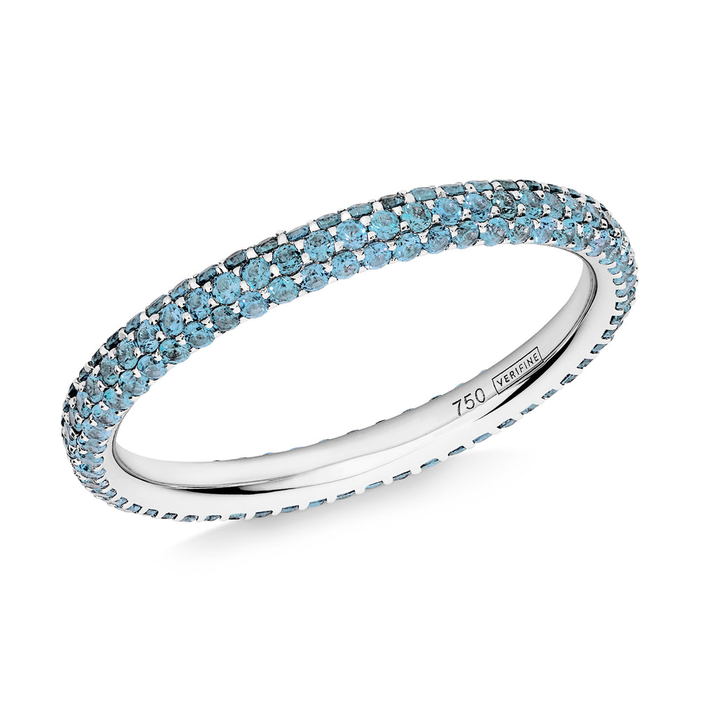 3 row blue topaz Gemopoli eternity ring