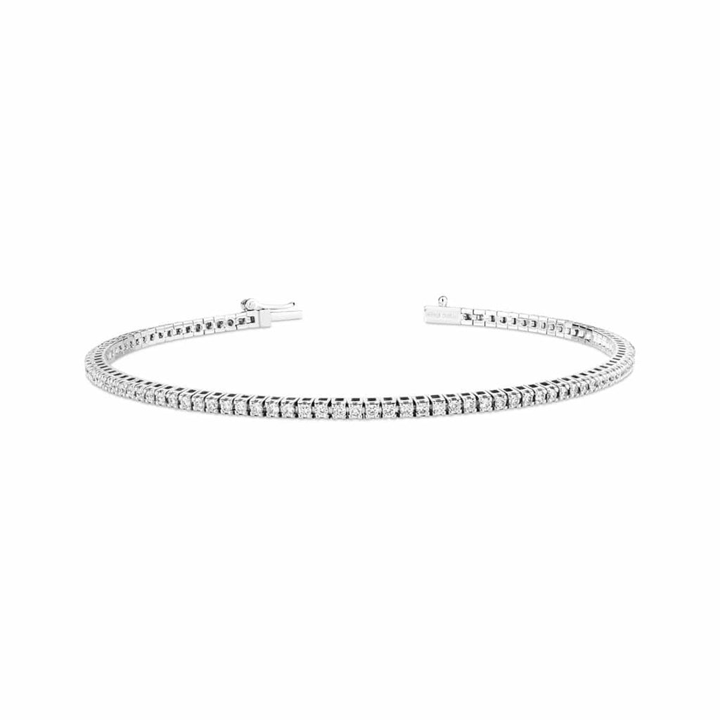 White gold diamond bracelet on a plain white background.