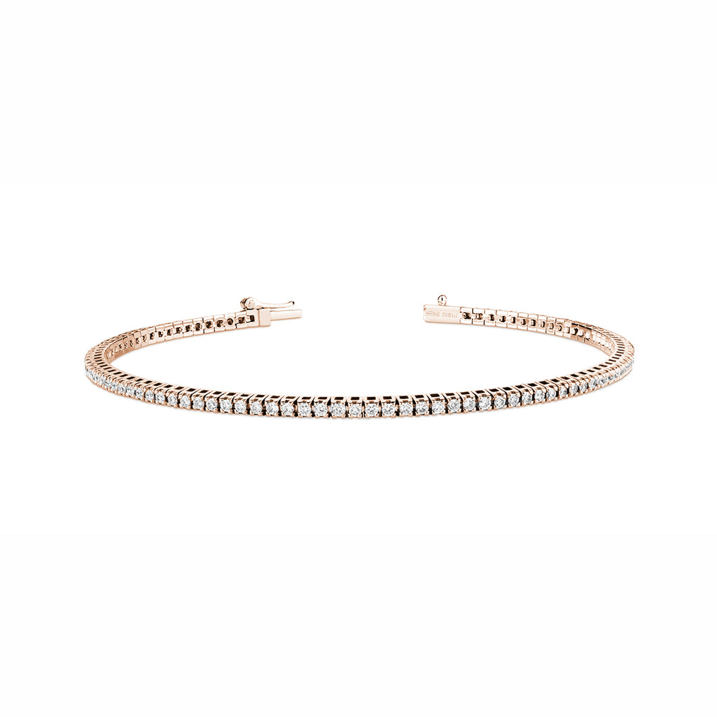 rose gold diamond bracelet 1ct