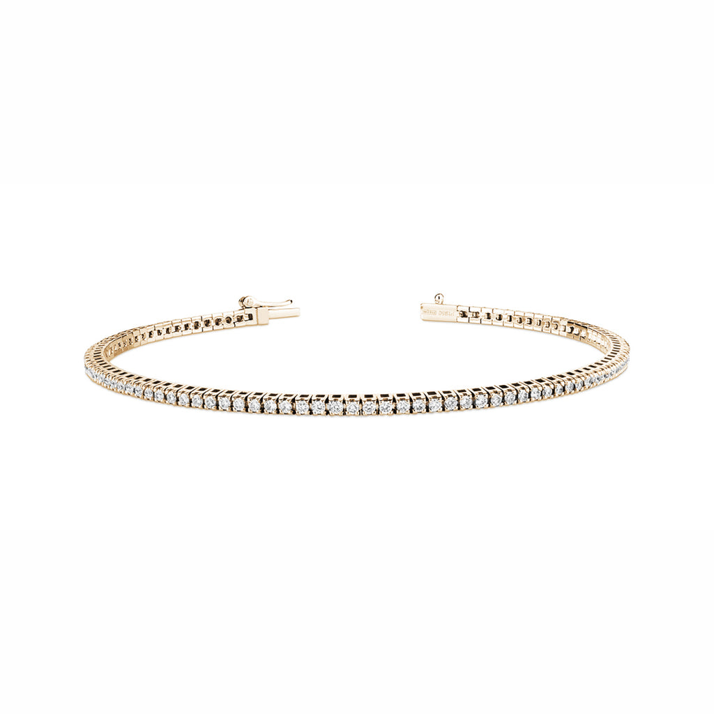yellow gold diamond bracelet 1ct