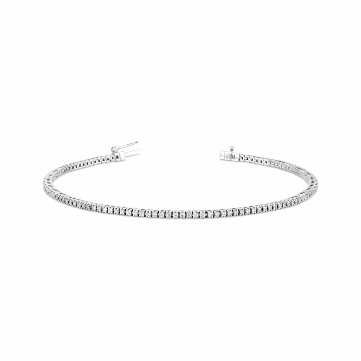 white gold diamond bracelet 0.6 ct