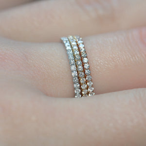 diamond full eternity ring 18ct yellow gold