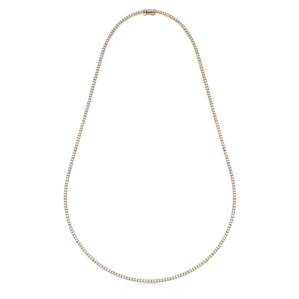 diamond tennis necklace 18ct yellow gold
