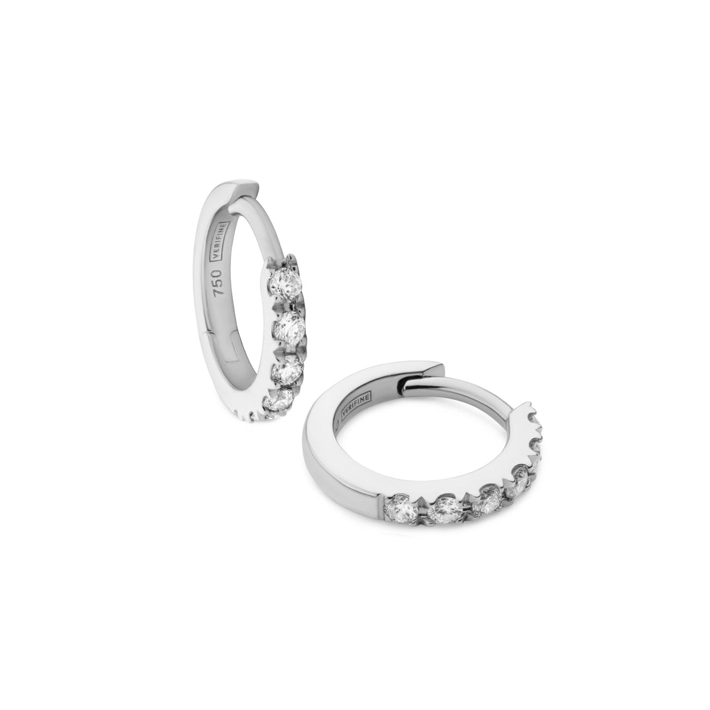 diamond huggie earrings 18ct white gold
