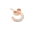 2-row pavé diamond Gemopoli huggies 18ct rose gold