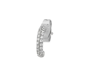 2-row diamond Gemopoli huggie earrings