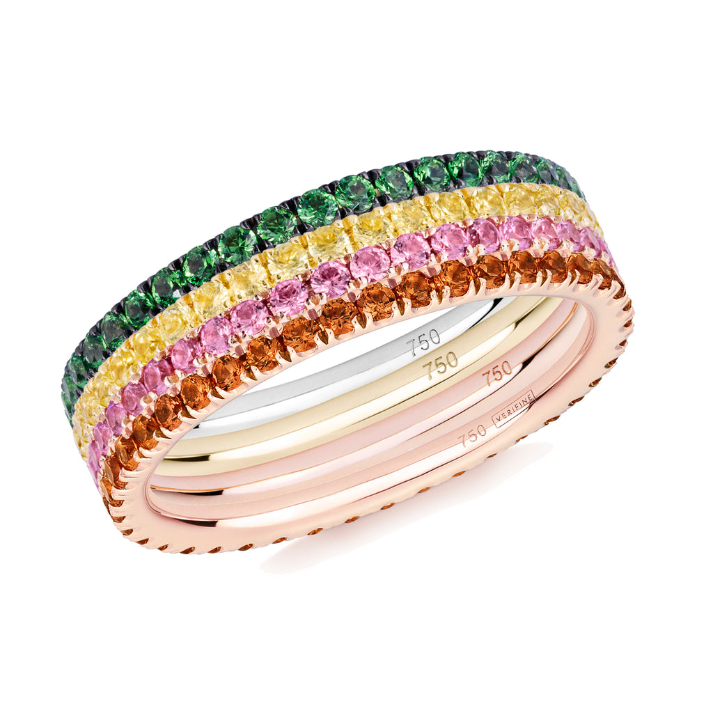 Full Bloom eternity ring stack