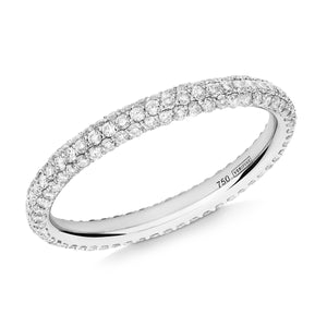 Gemopoli 3 row diamond full eternity ring 18ct white gold