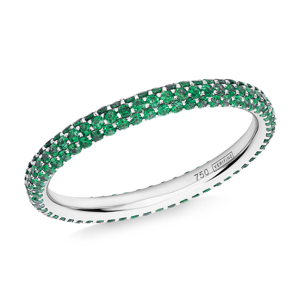 3 row green garnet Gemopoli eternity ring