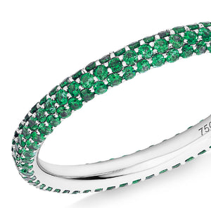 green garnet Gemopoli eternity ring
