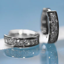 Load image into Gallery viewer, diamond halo hoops