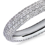 Gemopoli 5 row diamond full eternity ring 18ct white gold