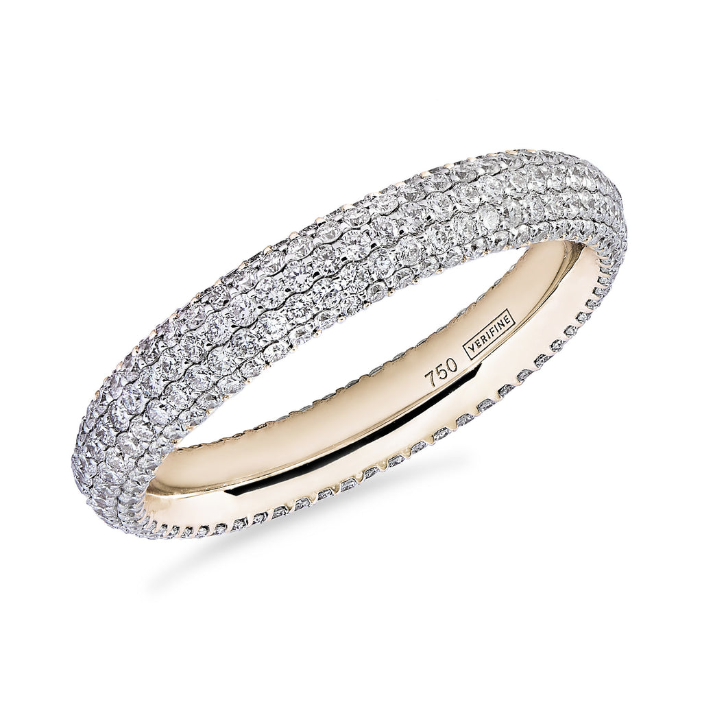 Gemopoli 5 row diamond full eternity ring 18ct yellow gold