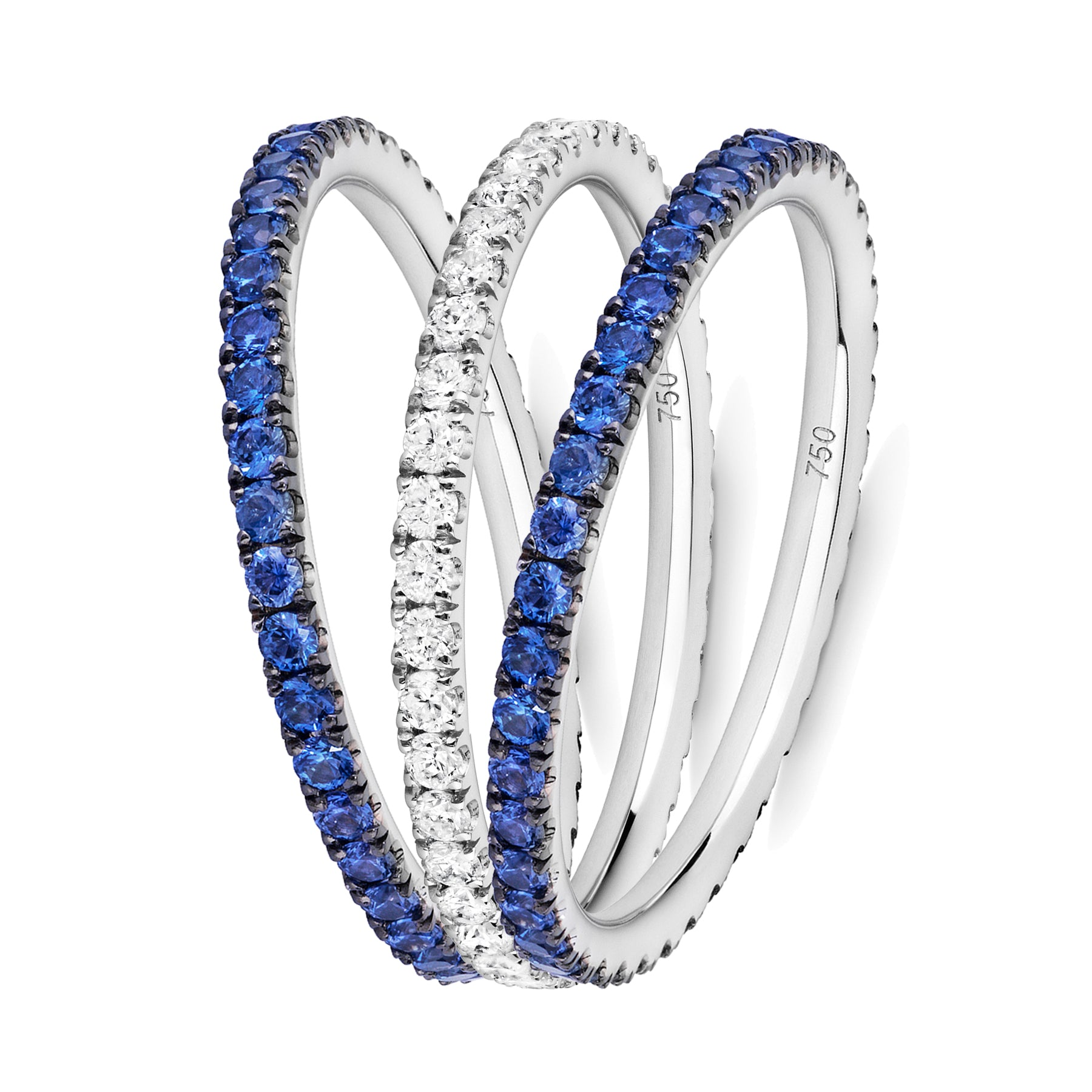 La Mer eternity ring stack