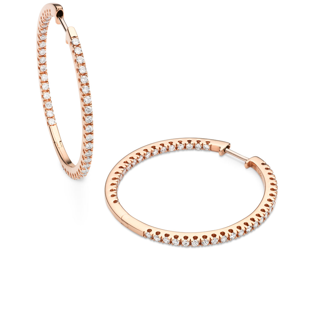 diamond full-set 30mm hoops 18ct rose gold